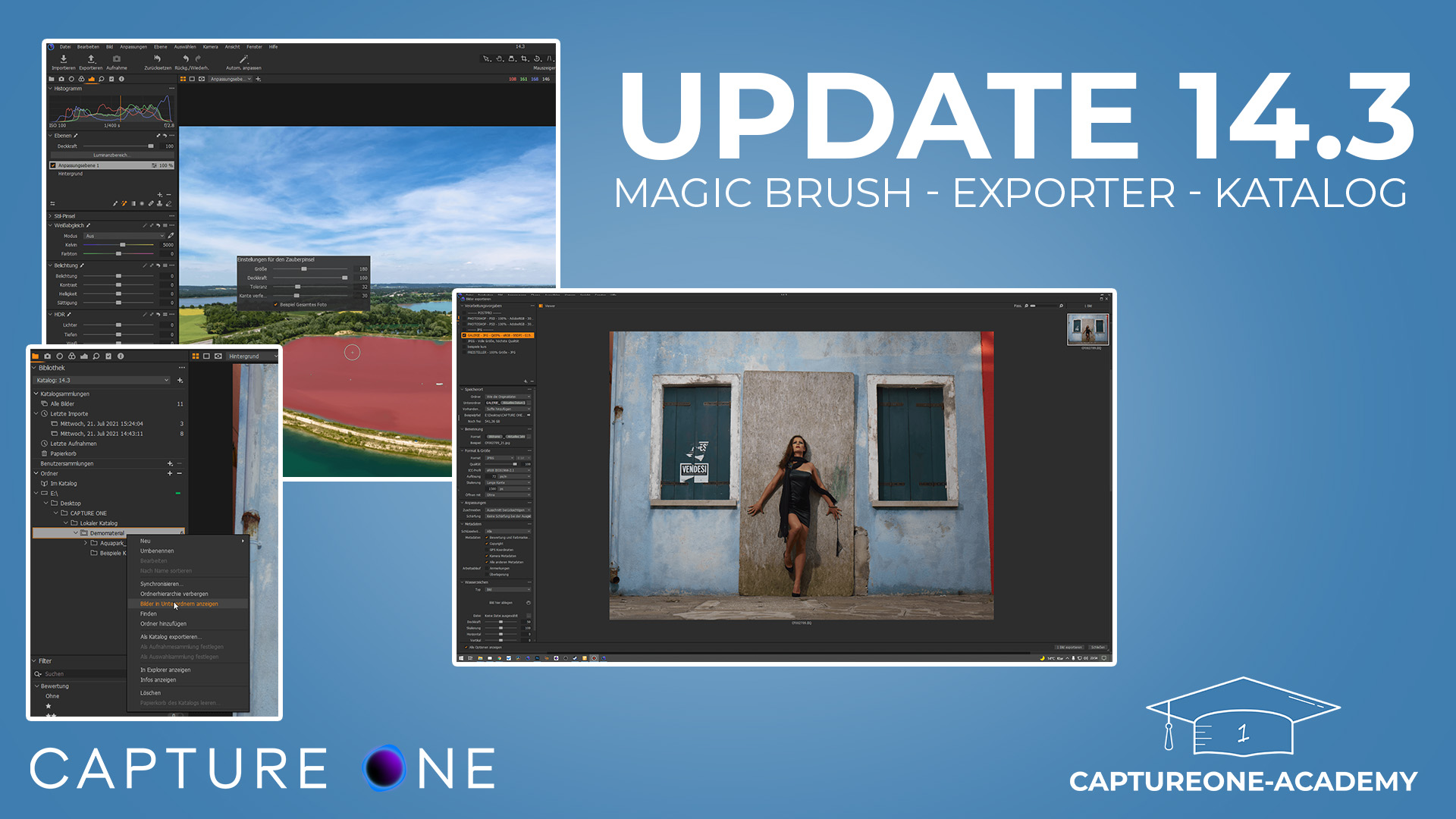 Capture One 21 Update 14.3 mit Magic Brush, Exportdialog